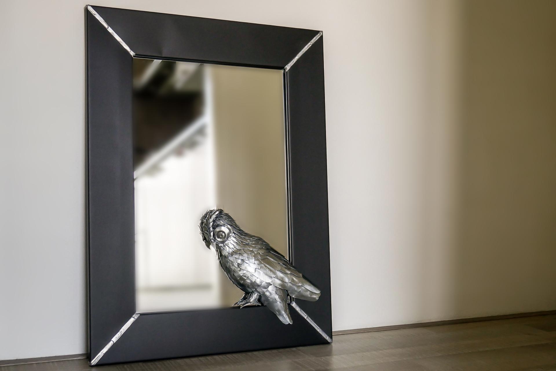 Spiegel met Zinken Uil